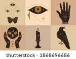 set of witch icons collection... | Shutterstock .eps vector #1868696686