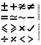 set of maths icons  vector  | Shutterstock .eps vector #186870380