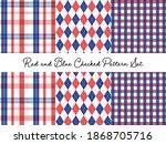 red and blue tartan gingham... | Shutterstock .eps vector #1868705716