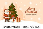 merry christmas and happy new... | Shutterstock .eps vector #1868727466