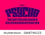psychedelic style font design ... | Shutterstock .eps vector #1868746123