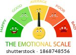 emotional scale with arrow from ...   Shutterstock .eps vector #1868748556