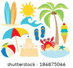 at the beach   surfing | Shutterstock .eps vector #186875066