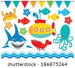 under the sea 2 | Shutterstock .eps vector #186875264