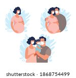 a family with a child  a... | Shutterstock .eps vector #1868754499
