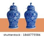 Blue And White Porcelain Jar...