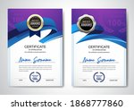 certificate template clean and... | Shutterstock .eps vector #1868777860