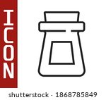 black line bottle with potion... | Shutterstock .eps vector #1868785849