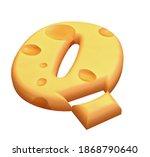 chedar cheese 3d font designa... | Shutterstock . vector #1868790640