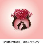 illustration of love and... | Shutterstock .eps vector #1868794699
