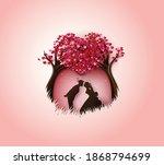 illustration of love and... | Shutterstock .eps vector #1868794699