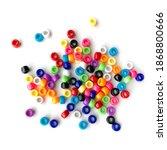 Colorful Rainbow Plastic Beads...