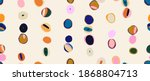 colorful modern hand drawn... | Shutterstock .eps vector #1868804713