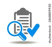 check list tick magnifying... | Shutterstock .eps vector #1868809930