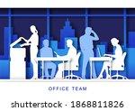 office life scene  vector... | Shutterstock .eps vector #1868811826