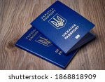 Ukrainian passport for traveling to other countries. Biometric international passport of a citizen of Ukraine.