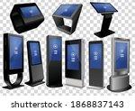 set of promotional interactive... | Shutterstock .eps vector #1868837143