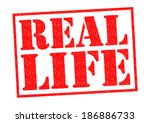 real life red rubber stamp over ... | Shutterstock . vector #186886733