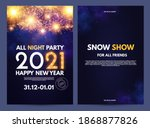 happy new 2021 year flyer... | Shutterstock .eps vector #1868877826