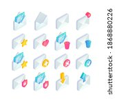 email isometric icon set  new... | Shutterstock .eps vector #1868880226