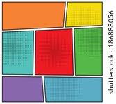 comics popart style blank... | Shutterstock .eps vector #186888056