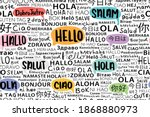 hello in different languages... | Shutterstock .eps vector #1868880973