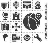 13 Filled Located Icons Set...
