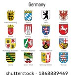 coat of arms of the states of... | Shutterstock .eps vector #1868889469