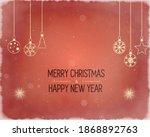 golden text on dark red...   Shutterstock . vector #1868892763