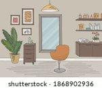 hair salon graphic color... | Shutterstock .eps vector #1868902936
