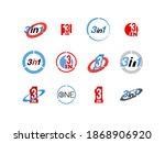 logo design illustration set... | Shutterstock .eps vector #1868906920