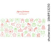 christmas holiday background... | Shutterstock .eps vector #1868913250