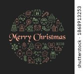christmas greeting card with... | Shutterstock .eps vector #1868913253