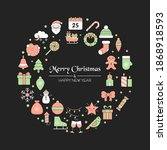 christmas greeting card with... | Shutterstock .eps vector #1868918593