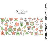 christmas holiday background... | Shutterstock .eps vector #1868918596