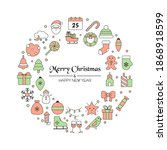christmas greeting card with... | Shutterstock .eps vector #1868918599