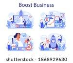 Business Boost Concept Set....