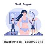 plastic surgery concept. idea...   Shutterstock .eps vector #1868931943