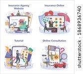 insurance agent online service... | Shutterstock .eps vector #1868936740
