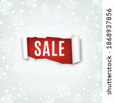 sale. torn papper banner on... | Shutterstock .eps vector #1868937856
