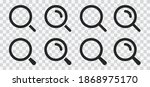 isolated set magnifying glass... | Shutterstock .eps vector #1868975170