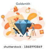 jeweler and jewelry concept.... | Shutterstock .eps vector #1868990869