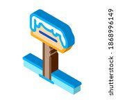 snowy nameplate icon vector.... | Shutterstock .eps vector #1868996149