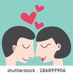 couple in love | Shutterstock . vector #186899906