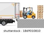 Forklift Loading Pallet Boxes...