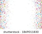 colorful music notes background ... | Shutterstock .eps vector #1869011830