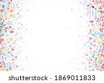 colorful music notes background ... | Shutterstock . vector #1869011833