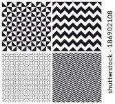 set of geometric pattern... | Shutterstock .eps vector #186902108