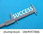 Concept Of Success. Top View Of ...