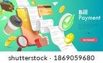 3d conceptual illustration of... | Shutterstock . vector #1869059680